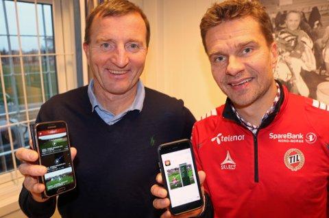 TEKNOSAMARBEID: UiT-professor Dag Johansen (t.v) og TILs sportssjef Svein-Morten Johansen (t.h).