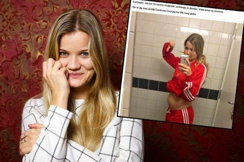 VANSKELIG:  Sandra Lyng Haugen forteller på bloggen om hvordan det er å leve med allergi.  Foto: Heiko Junge / NTB scanpix/Skjermdump, Sandralyng.blogg.no