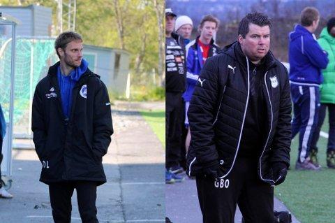 HAR PLANEN KLAR: David Lundblad og Gaute B. Olsen (t.h), hentet fra Kvaløya, skal gjøre Senja til et springbrett for unge spillere som ønsker å ta steget til høyere divisjoner.