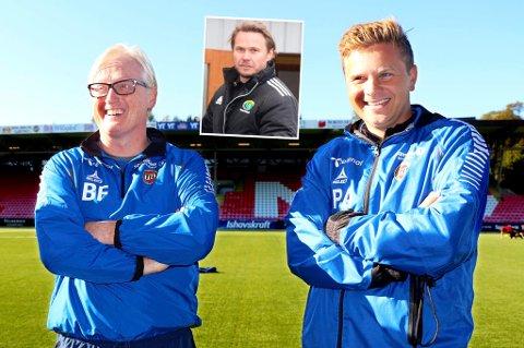 Bjørn Johansen (innfelt) blir etter det Nordlys kjenner til ikke Bård Floviks assistent i 2016. I stedet kan Lars Petter Andressen (t.h.) likevel være en aktuell kandidat for rollen.
