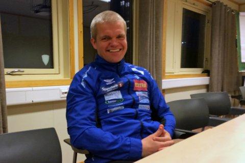 BRAKKAS MANN: Gaute U. Helstrup på TUIL-brakka fredag.