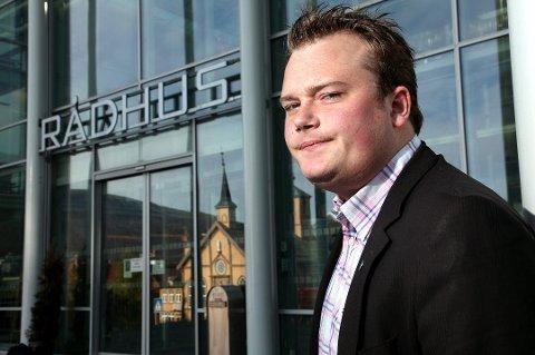 BYRÅD: Jonas Stein Eilertsen (V) er byråd for næring, kultur og idrett i Tromsø kommune.  (Foto: Ole Åsheim)