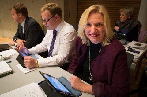 GÅR AV: Fylkesrådsleder Line Fusdahl går av med umiddelbar virkning i morgen klokka 10.