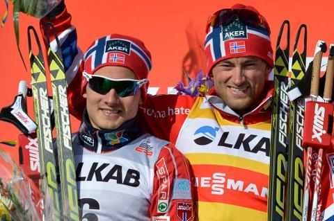 Finn Hågen Krogh og Petter Northug skal utgjøre Norges lag på lagsprinten i VM søndag. Det bekreftes torsdag kveld.
