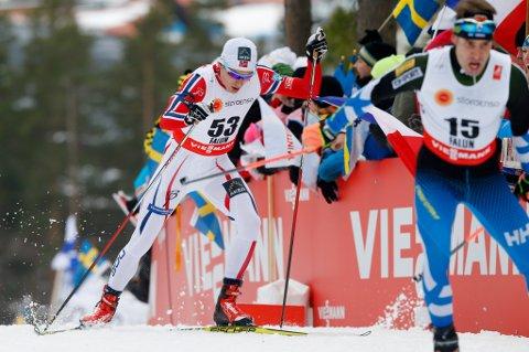 VRAKES? Finn-Hågen Krogh gikk inn til femteplass på 15 kilometer fri teknikk i VM onsdag.