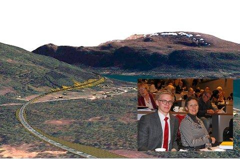 VESTRE: E8 har vært en politisk verkebyll i flere tiår. Arbeiderpartiets Brage Larsen Sollund og Kristin Røymo mener det er på høy tid å slutte å krangle om vestsiden eller østsiden. De vil jobbe for en bedre samarbeidskultur i Tromsø, om de vinner høstens valg.