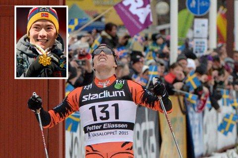 TVERRELVDALEN PÅ VERDENSKARTET: VM-vinner Finn-Hågen Krogh (innfelt) og Vasalopp-vinner Petter Eliassen setter lille Tverrelvdalen IL på verdenskartet i langrennssporten