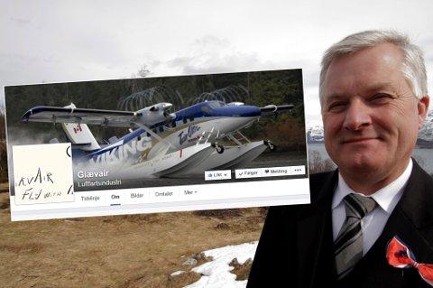 NYTT SELSKAP: Ola O.K. Giæver har starter selskapet Giævair Luftfartsindustri.