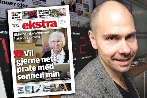 Sjefredaktør Anders Opdahl er glad for å kunne tilby en ekstra avis til alle abonnenter.