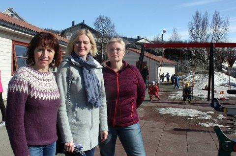 MANGLER BARN: Barnehagestyrerne Anne-Marie Barosen (t.v.), Vibeke Brattli og Turid Boholm.