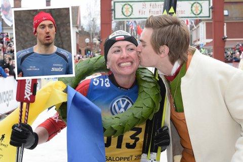 Justyna Kowalczyk, her etter seieren i Vasaloppet i mars, hevder hun kommende sesong skal bli lagkamerat med Andreas Nygaard (innfelt) på Team Santander. Team-lederen er ikke like sikker på det.