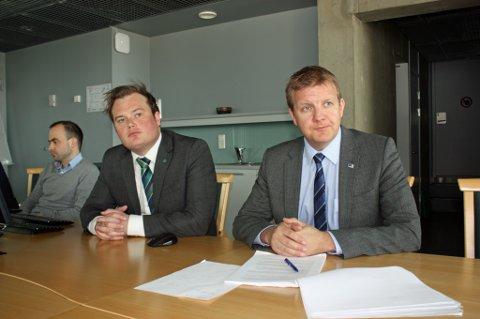 KRITISK: Øyvind Hilmarsen (til høyre) - her med tidligere finansbyråd Jonas Stein.