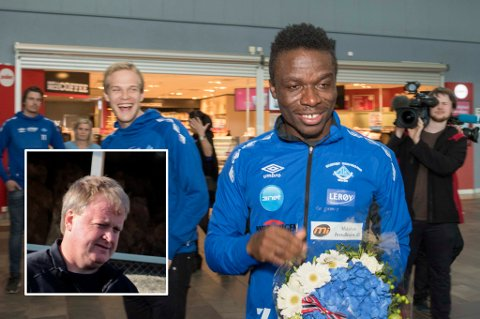 PRESIDENTEN IMPONERT: Fotballpresident Yngve Hallén (innfelt) ble rørt av måten Skjervøy og Fotball-Troms reagerte på da SIK-spilleren Chuksonyedika Agbakwue ble arrestert og forberedt på utsendelse av Norge.