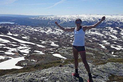 LØPEGLEDE: Guro Skjeggerud skal delta i Oslo Ecotrail i helga. Det er 82 kilometer langt...