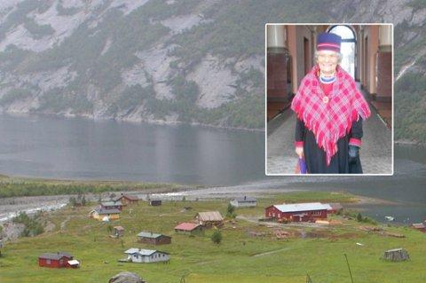 MINDREVERDIG: Inga Karlsen vokste som barn opp i et miljø hvor samene ble sett på som mindreverdig. Her er et bilde fra Hellemobotn hvor hun trådte sine barnebein.