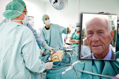 TO GANGER: I løpet av de siste femten årene har Jan Søreng (innfelt) vært kreftoperert to ganger på UNN i Tromsø. Foto: Privat/Jan Fredrik Frantzen, UNN