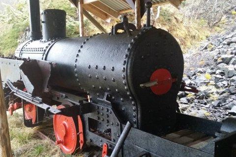 LOKOMOTIV: Dette er det eneste kjente damplokomotivet som gikk på bane i Troms fylke. Alle foto: Eddmar Osvoll
