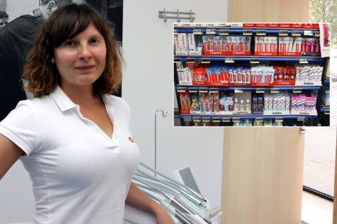 PRISEN IKKE AVGJØRENDE: Prisene på tannkrem varierer, men det har ikke nødvendigvis noe med kvaliteten å gjøre, sier tannlege Svetlana Kobets ved Budapest Klinikken i Tromsø.