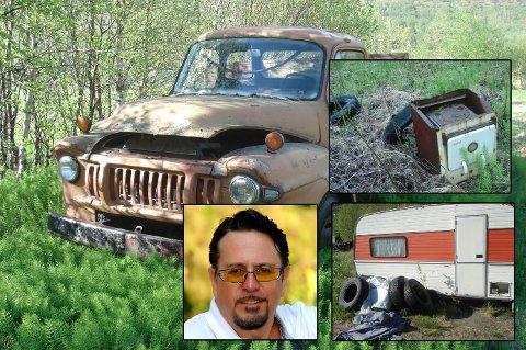 ROT: Ketil Stokkan har sett seg lei på rot, skrot, og søppel som ligger slengt rundt.