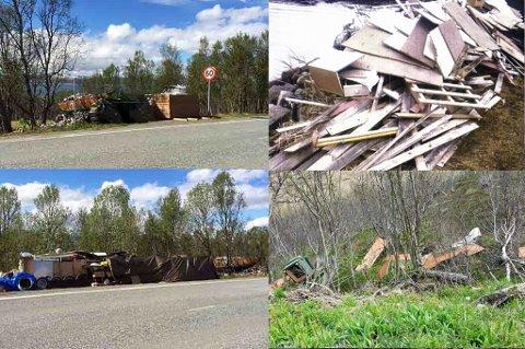 MYE SØPPEL: Nordlys har fått flere tips om søppel som ligger slengt i naturen rundt om i Tromsø Foto: Privat/ Daniel Nordahl Jørgensen/ Janne Jacobsen