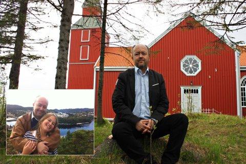 SAMMEN: Sara Christiane Holmedahl Sandsmark ble bare 13 år. Her er hun sammen med pappa Jostein H. Sandmark utenfor Flekkefjord der han vokste opp (innfelt). Søndag og mandag er han i Tromsø for å fortelle hvordan han snakker seg ut av sorgen