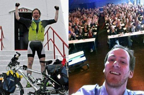 NYE HØYDER: Adrian Lund forsøker å utfordre seg selv på tross av syndromet.Foto: Privat