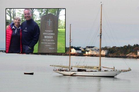 SEILAS: Erling og kona Bente Storm har seilt til Nord-Norge sammen med flere venner. Her er seilskuta Eileen II, som er 92 fot oppankret på Bjarkøy.