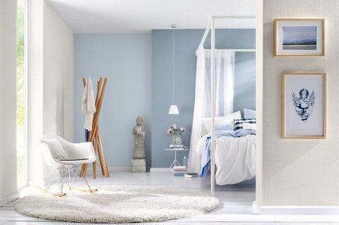 Med riktig fargekombinasjon vil fargen på veggen komme bedre til sin rett, dører og vinduer kommer bedre fram og rommets form blir tydeligere. (Foto: ifi.no/ANB)