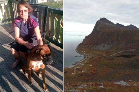 BLE ANGREPET: Jenny Johansens hund Ronja ble angrepet på tur på Brosmetinden.