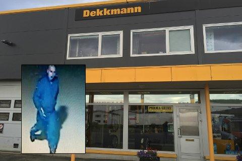 OVERVÅKET: Søndag ettermiddag tok mannen seg nok en gang inn på Dekkmann på Stangnes. Det er fjerde gangen i år, og tredje gangen på ei uke.