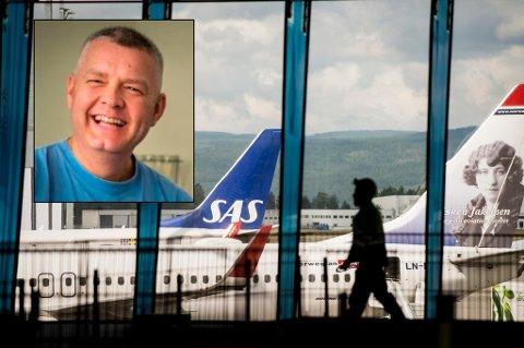 MISTET TELEFONEN: 36 timer etter at han hadde mistet telefonen på Norwegian-flyet, fikk Stig Brøndbo beskjed om at han kunne hente den på hittegodskontoret på Gardermoen. Da var han vel hjemme i Tromsø.