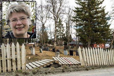 REAGERER: Kirkeverge Kristin Stang Meløe reagerer sterkt på at byrådet har redusert den planlagte driftssentralen til Kirkelig Fellesråd.