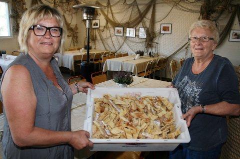 Fiskerestauranten Saltfesken på Husøy. Ann-Torild Pettersen og Mathilde Karlsen