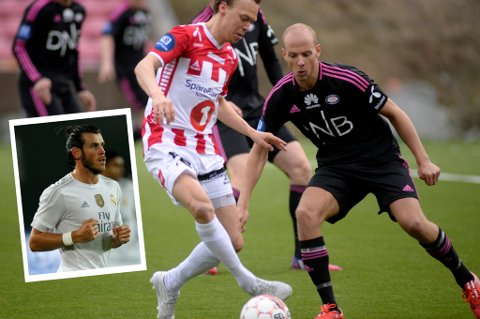 Ruben Kristiansen i duell med Magnus Andersen i den spinnville 4-5-kampen på Alfheim tidligere i år. Fredag møtes trolig de to til duell igjen, og søndag kan Kristiansen få bryne seg på Gareth Bale (innfelt).