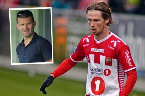 Sogndal-trener Eirik Bakke (innfelt) tror de kan komme til å skrive en lenger kontrakt med Thomas Drage hvis alt fungerer godt i høst. Drage er klar for debut for Sogndal mot Bryne mandag.