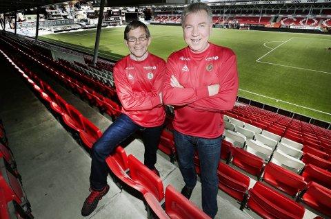 Styreleder Per Aronsen i TIL Holding, her sammen med TIL-direktør Ulf Johansen.