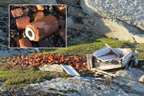 UKJENT: Hva kan dette være? Den gamle kassen ble funnet i et fjellparti som er lite trafikkert av mennsker.
