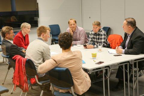 KYSTENS HUS: Ap, SV og Rødt holdt innledende samtaler på Kystens Hus onsdag.