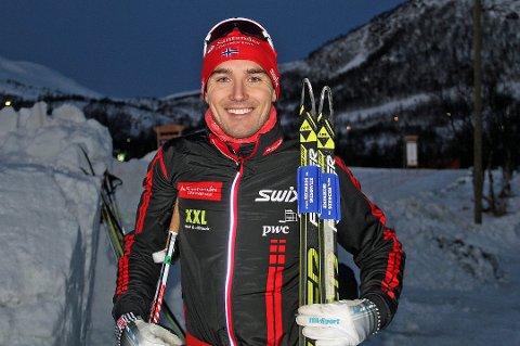 Andreas Nyggard beholder spurttrøya i Ski Classics.