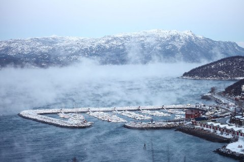AVVIKE: Det kalde været gjør at temperaturvarselet på Yr kan avvike fra reell temperatur. Foto: Kristoffer Klem Bergesen