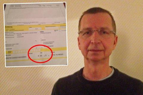 SPESIELL REGNING: Utflytta tromsøværing Dag Ove Bangsund fikk regning på ny eiendomsskatt - på 8 kroner.