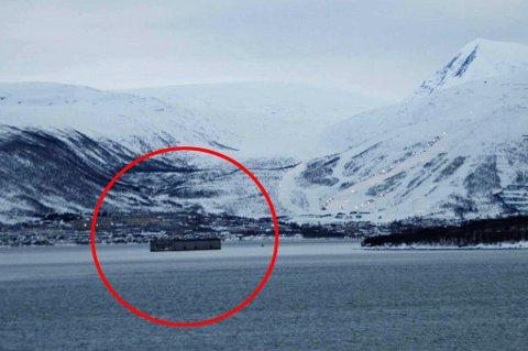 GODT SYNLIG: Den nye herligheten er kjøpt fra Murmansk i Russland. Nå skal den gi god butikk for Tromsø-bedrift.