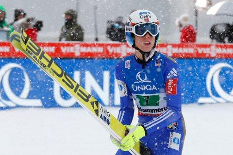 Johann André Forfang er søndag på jakt etter ny topplassering i verdenscupen i hopp.