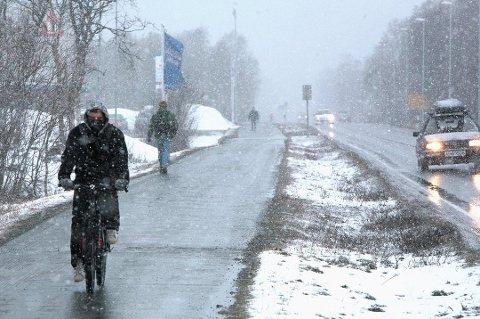 NEDBØR: Du bør være forberedt på slike scener i Troms de kommende dagene.