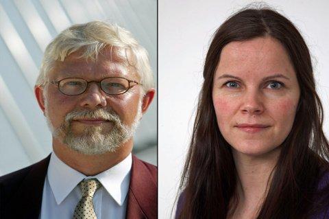VIL HA JOBBEN: Fredrik Arthur, som i dag er ambassaderåd i Sveits, og konstituerte daglige leder i sekretariatet i dag, Laila Dalhaug, er blant søkerne.