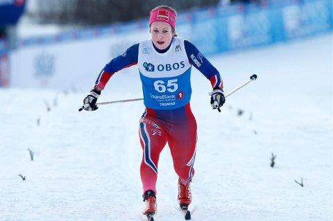 Anna Svendsen ble beste løper fra Troms på hjemmebane. Foto: Terje Pedersen, NTB Scanpix