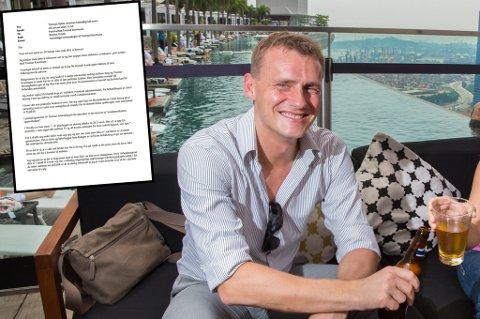 Thomas Heide jobber for tromsøfirmaet Dualog på deres kontor i Singapore.
