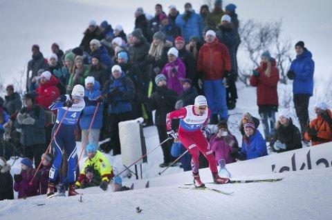 NM-GULL: Finn Hågen Krogh takket tromsøpublikum for støtten da altagutten tok sitt første NM-gull noensinne på sprinten fredag.