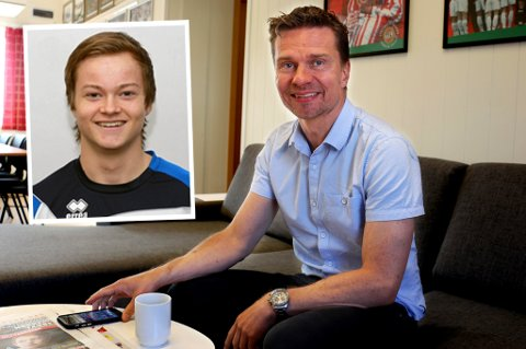TILs sportssjef Svein-Morten Johansen bekrefter at klubben om halvannen uke henter inn islandske Aron Sigurdarson (innfelt) på prøvespill.