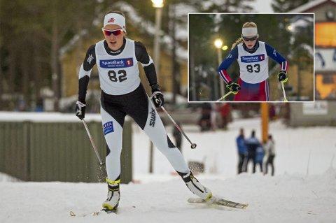 KNALLSTART: Synne Arnesen og Johanne Heimdal (innfelt) imponerte i Norgescup-starten på Steinkjer fredag, med andre- og tredjeplass. Det gir håp om ungdoms-OL-deltakelse for duoen.